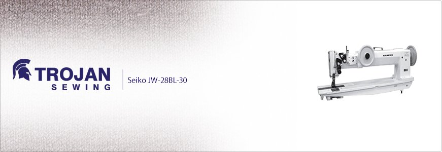 Seiko JW-28BL-30 Twin Needle Extra Heavy Duty Long Arm