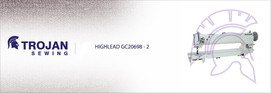 Highlead GC20698-2 Long Arm Twin Needle Compound Feed