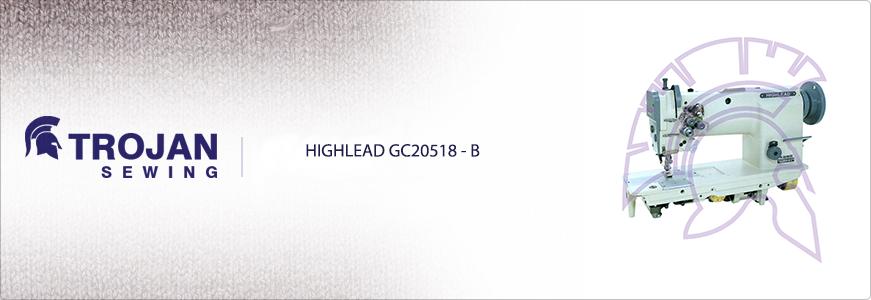 Highlead GC20518-B Twin Needle, Needle Feed