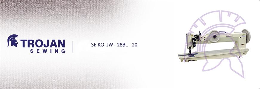 Seiko JW-28BL-20 Twin Needle Extra Heavy Duty Long Arm