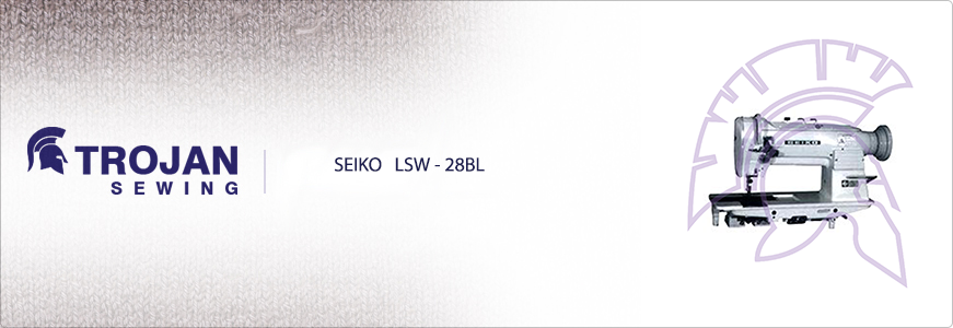 Seiko LSW-28BL Twin Needle Compound Feed