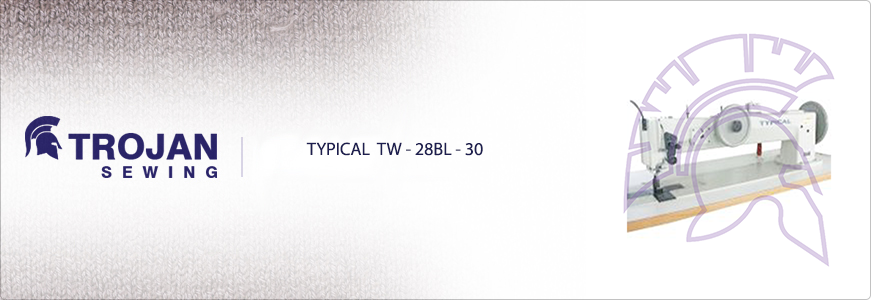 Typical TW-28BL-30 Twin Needle Extra Heavy Duty Long Arm