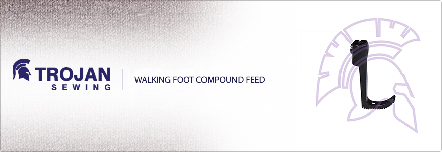 Walking foot compound feed